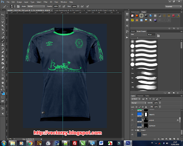 Free Download Premium Mockup Jersey Photoshop PSD File