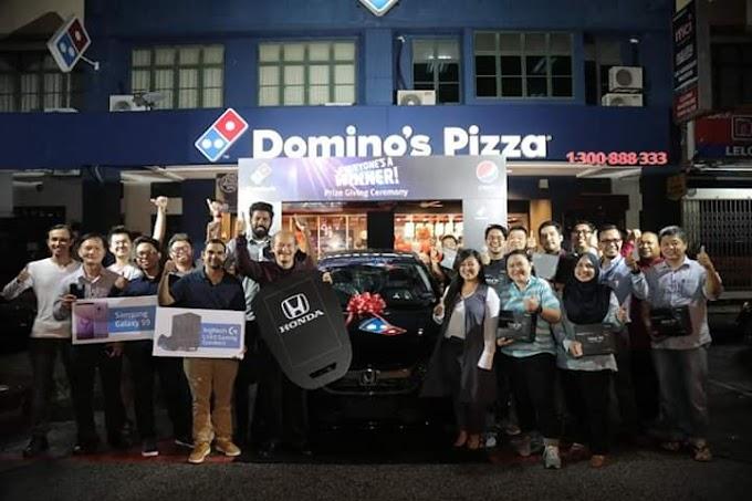 DOMINO'S PIZZA & PEPSI BLACK MENAWARKAN HADIAH KEPADA PELANGGAN DENGAN HADIAH BERJUMLAH RM130,000