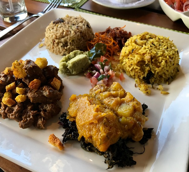Le Fangourin, Mauritius, dry venison curry