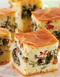 Receita de Torta de escarola e azeitonas