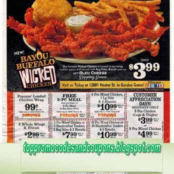Free Promo Codes And Coupons 2019 Popeyes Chicken Coupons