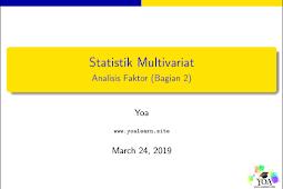 Statistik Multivariat Bab 3 (Bagian 2)