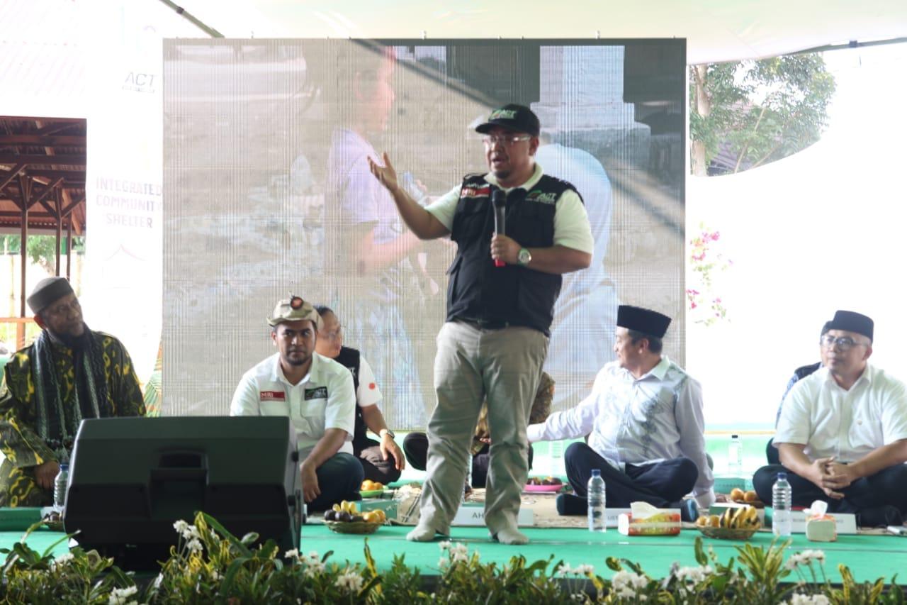 ACT Bersama Bupati KLU Resmikan Integrated Humanity Shelter untuk Korban Gempa
