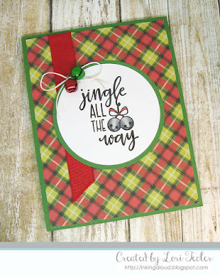 Jingle All the Way card-designed by Lori Tecler/Inking Aloud-stamps from Verve Stamps