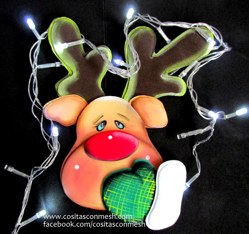 Cmo hacer un reno navideo para colgar cositasconmesh
