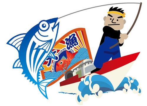 関西の船釣りで釣れる 竿とリール カツオ