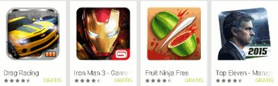 Beberapa game android yang populer di Google Play Store
