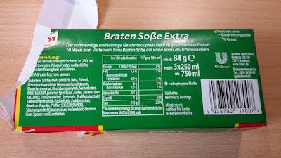Knorr Bratensoße Extra Rücksreite