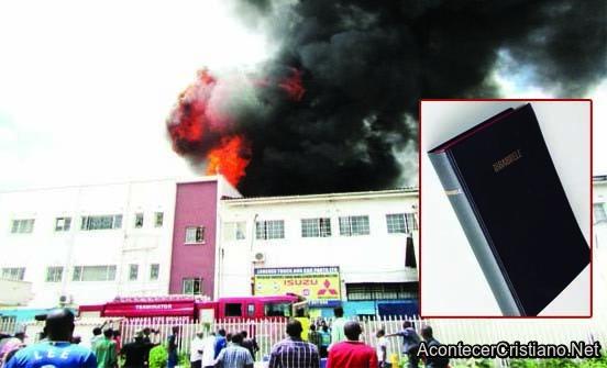 Incendio en Sociedad Bíblica de Zambia