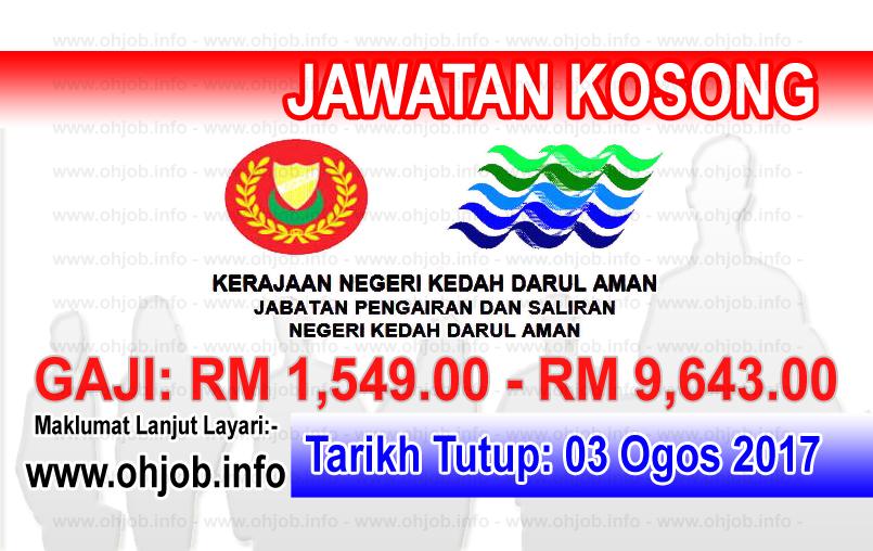 Jawatan Kerja Kosong Jabatan Pengairan dan Saliran Negeri Kedah logo www.ohjob.info ogo 2017