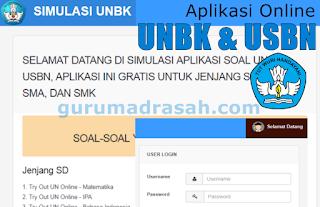 aplikasi online simulasi unbk
