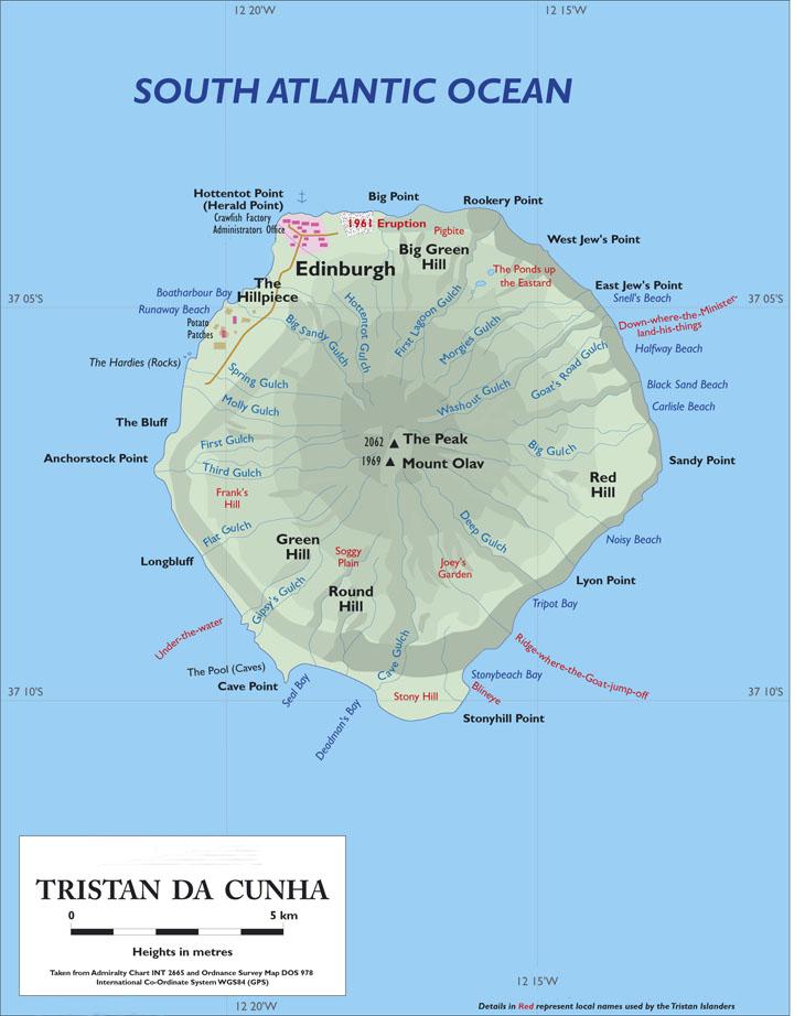Geografia e história de Tristão da Cunha | Reino Unido