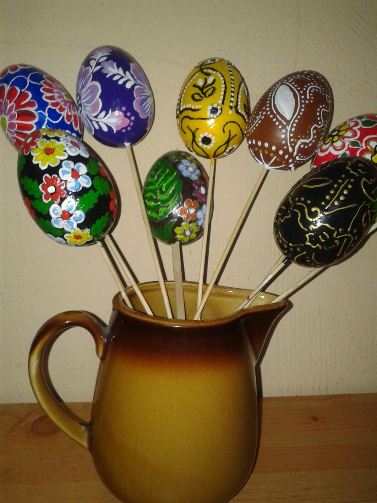 Jajka styropianowe ręcznie malowane