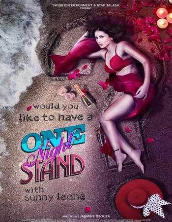 Poster Of One Night Stand 2016 Hindi 720p DVDScr x264 Watch Online Free Download Worldfree4u