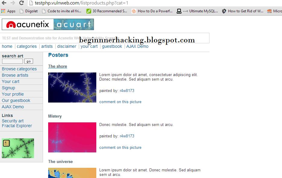 Hacking Websites Using SQL Injection Manually - Kali Linux