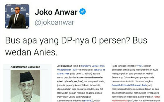 Joko Anwar Dikecaman Netizen Karena Olok-Olok Nama Pahlawan