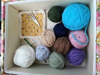 Crochet Mood Blanket granny squares
