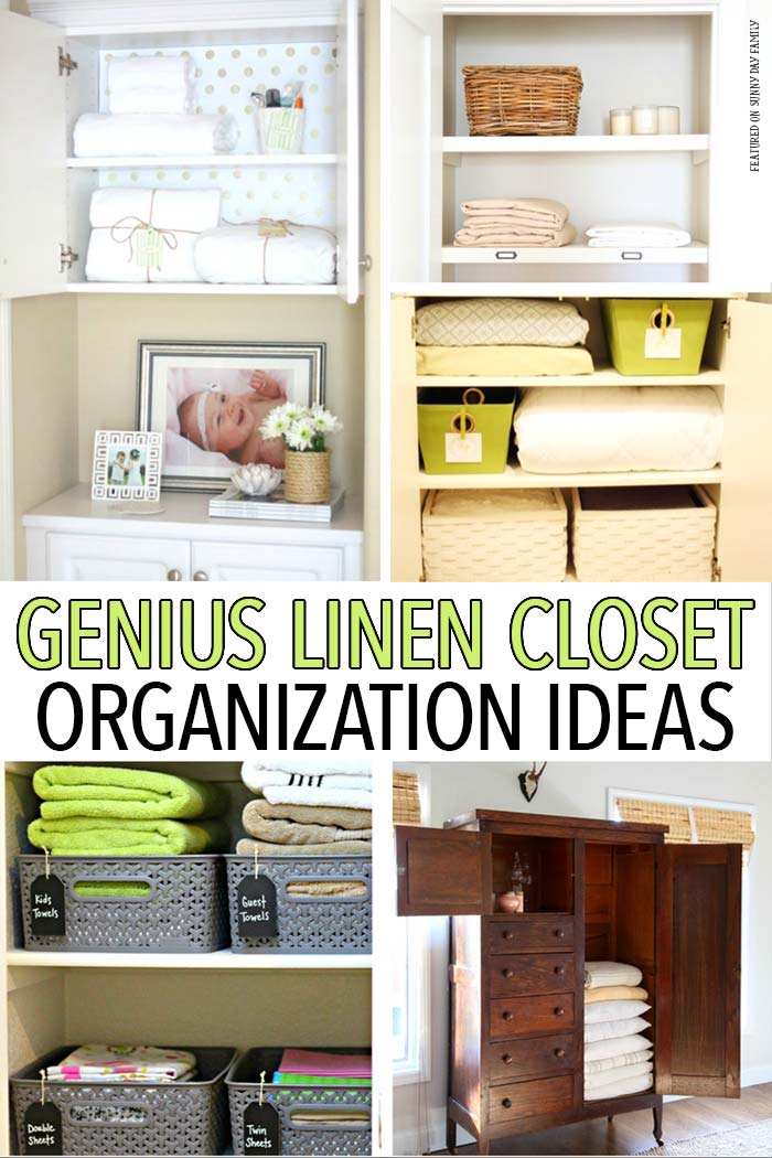 Organize your linen closet with these awesome tips, tricks, and organizing hacks! Closet Organizing | Home Organizing | Organizing Ideas | Home Hacks
