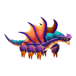 Appearance of Dark Sky Dragon when adult