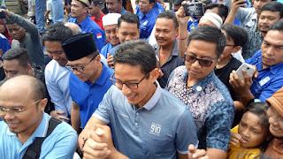 H. Sandiaga Salahuddin Uno Singgah Ke Pasar Baru Tanjung Pura