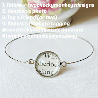 image two cheeky monkeys giveaway sherlock holmes stacking bangle bracelet