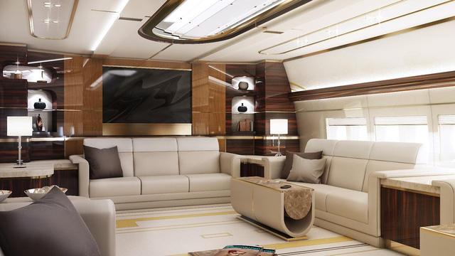 Nội thất bên trong phòng khách của Boeing 747-8 VIP