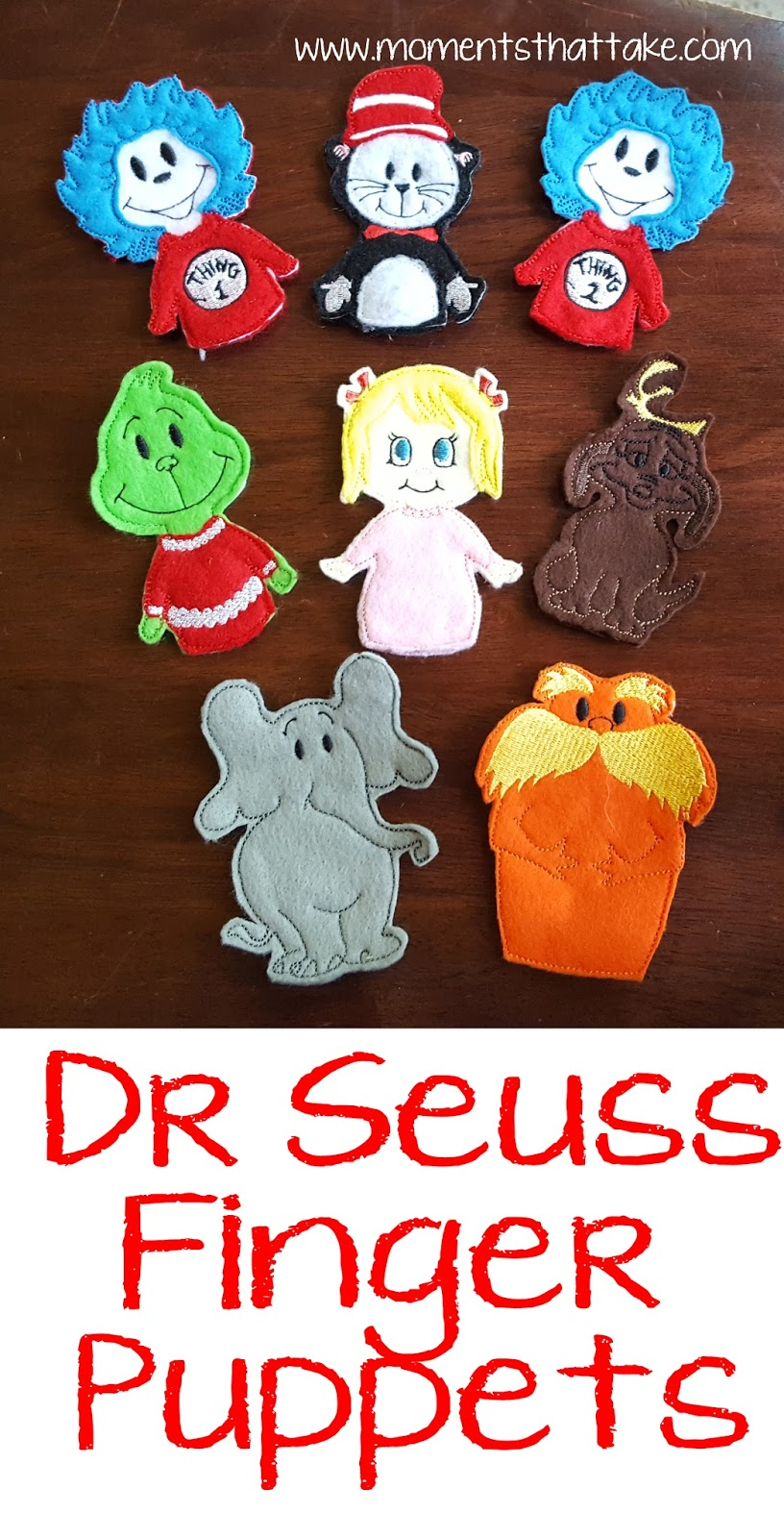 Moments That Take My Breath Away Dr Seuss Finger Puppets