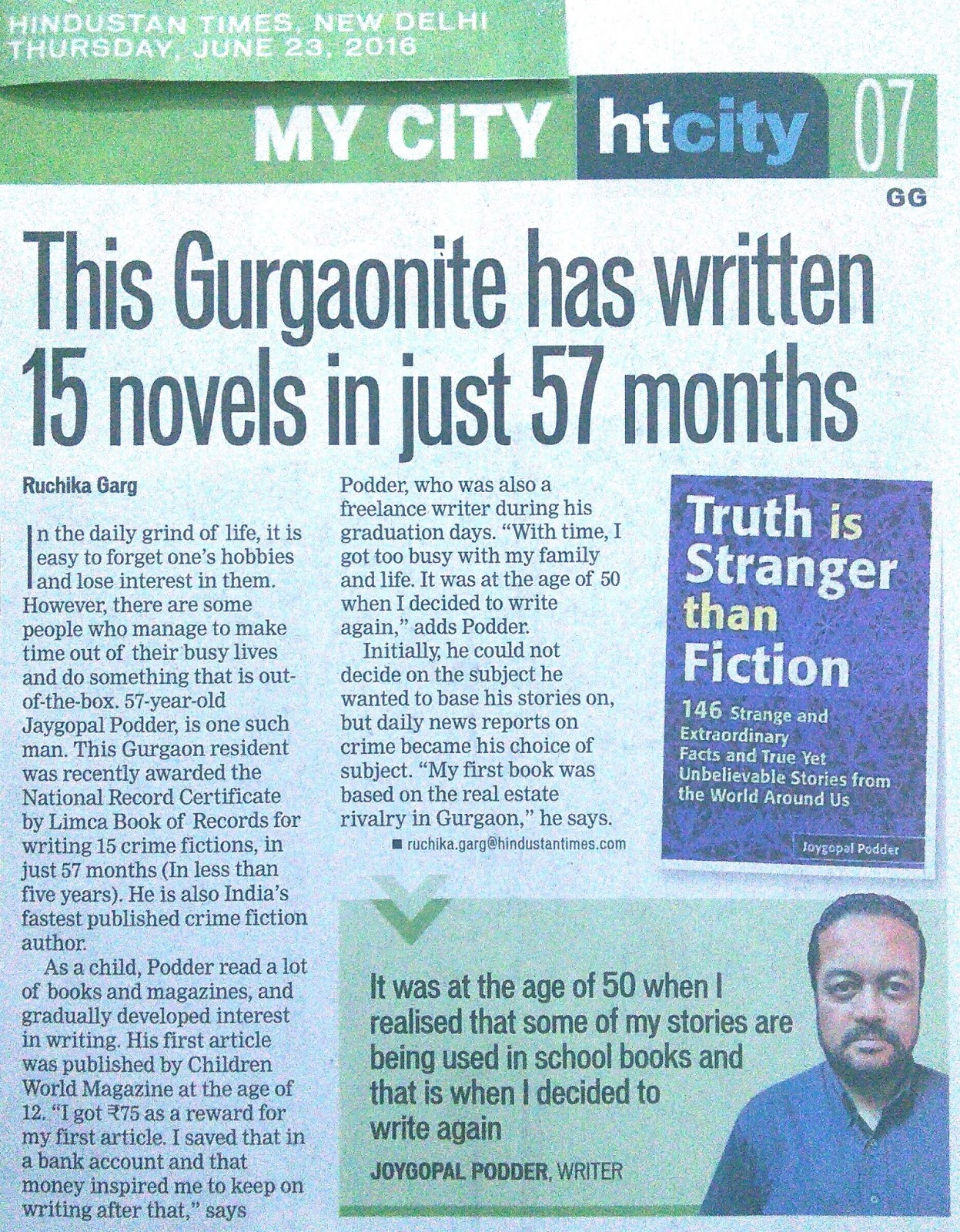 Strange, Interesting And Extraordinary Facts Compiled By Joygopal Podder