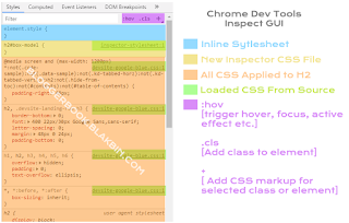 Google Chrome Inspector GUI
