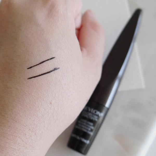 Thin lines drawn by Revlon ColorStay Exactify Liquid Liner