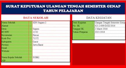 Aplikasi Cetak Surat Keputusan/SK Sekolah Otomatis