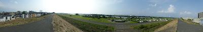 淀川河川公園 佐太西地区パノラマ写真