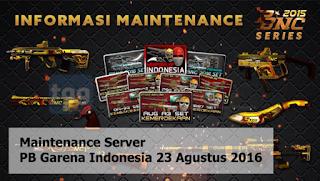 Maintenance Server PB Garena Indonesia 23 Agustus 2016