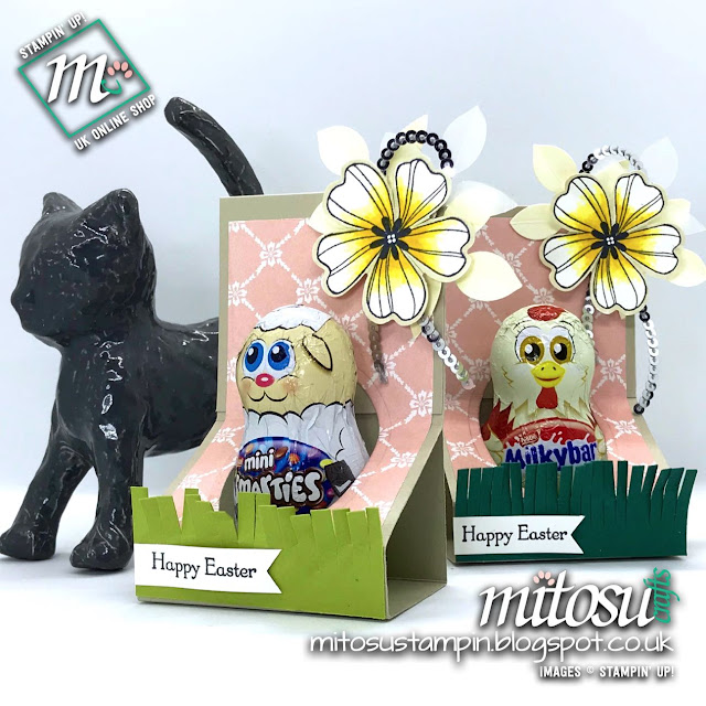 Stampin' Up! Easter Chocolate Holder Idea order craft supplies from Mitosu Crafts UK Online Shop