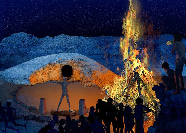 fuego y tumba, eneolitico, ritual