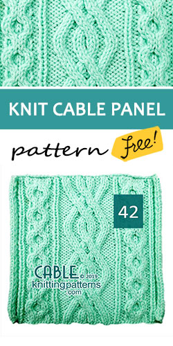 Knit Cable Panel Pattern 42, its FREE