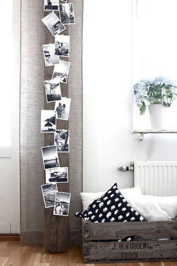 7 maneras originales y sencillas de exponer las fotografías en tu hogar