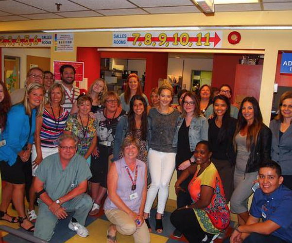 Jennifer Lawrence visited a children's Hospital in Montreal