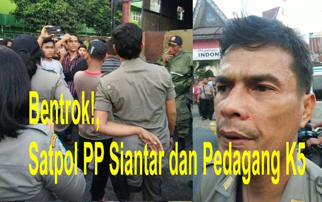 GASwat! Terjadi Bentrok Antara Satpol PP dan PKL di Jalan Merdeka Siantar