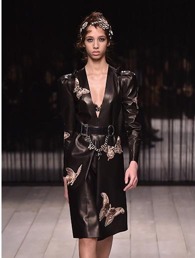Alexander McQueen Butterfly Dress Design