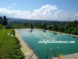 villa bogor sukabumi  kolam renang luas besar