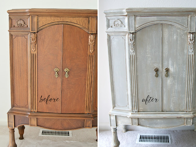 Inspirations: Chalk Paint Cabinet Makeover