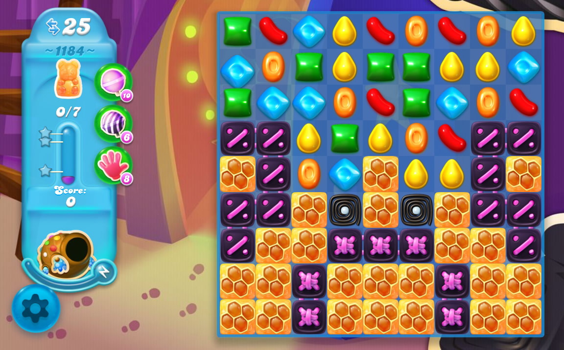 Candy Crush Soda Saga level 1184