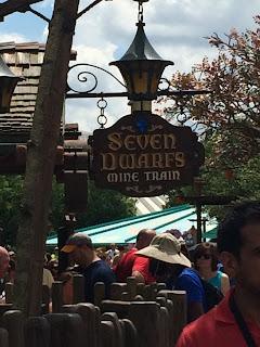 Sign Seven Dwarfs Mine Train