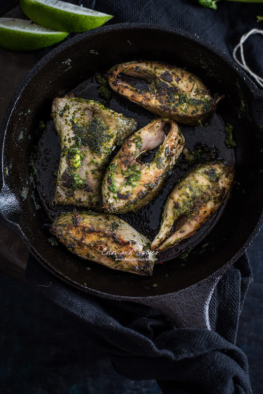 recipe for pan seared fish with coriander pesto