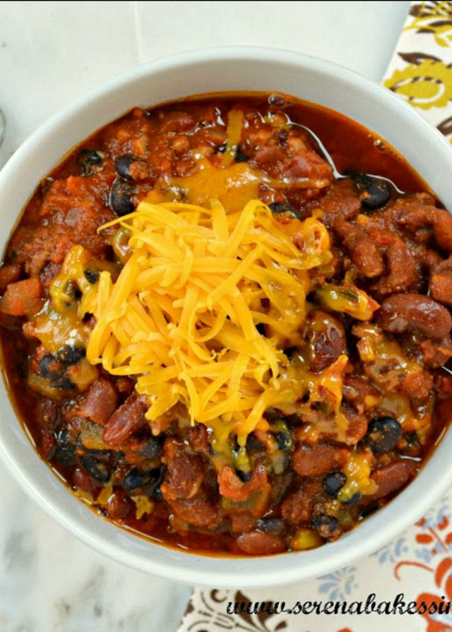 Darn Good Chili recipe is the ultimate bowl of comfort from Serena Bakes Simply From Scratch.