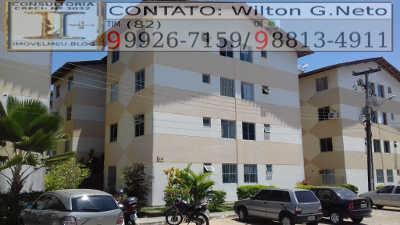 FACHADA DO Apartamento a venda no residencial Antônio Oliveira Coutinho, bairro ouro preto, na cidade de Maceió - AL.