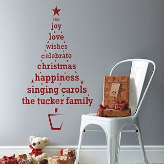 Christmas Wall Sticker, Not On The High Street