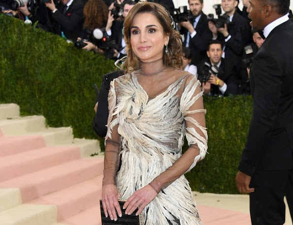 Queen Rania of Jordan and Charlotte Casiraghi of Monaco attends the Costume Institute Gala