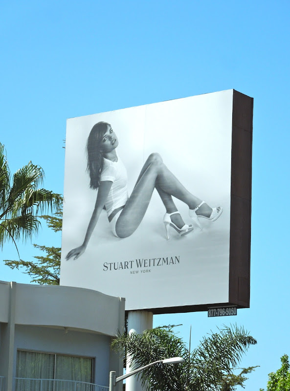 Stuart Weitzman white heels billboard October 2012